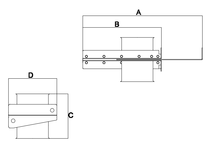 Dampers - Drawing. See measurements in table.